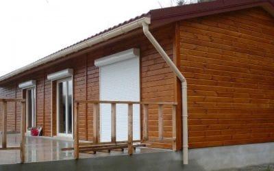 Mediniai namai, statyba Lietuvoje